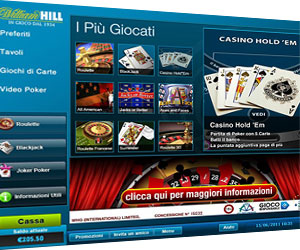 William Hill Giochi Casino